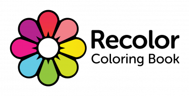Recolor logo black text side tagline